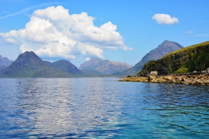 View towards the Cuillins and Lochs Scavaig and Coruisk from Elgol