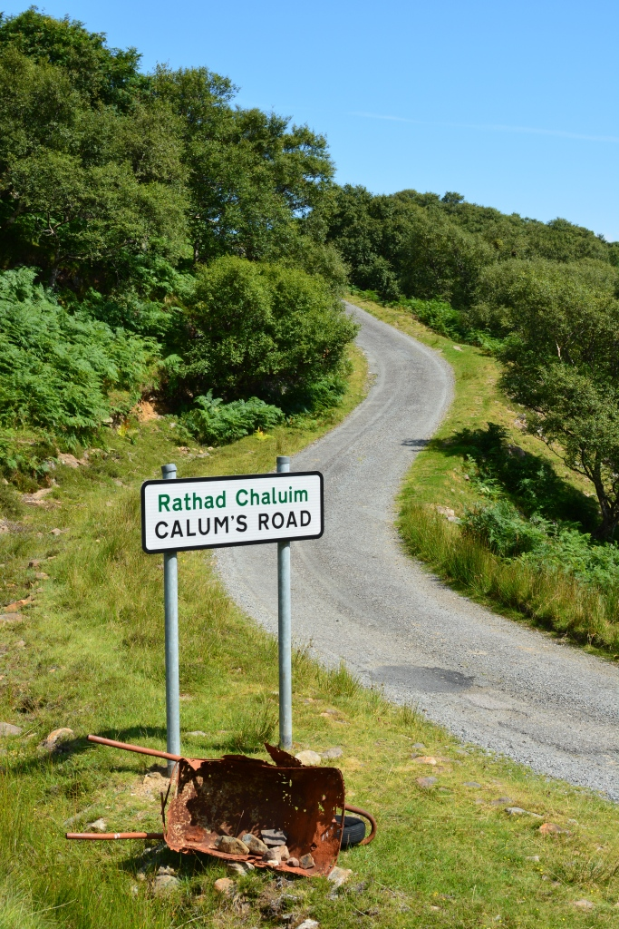 """Calum's Road"" on Isle of Raasay. Made by Calum MacLeod over 10 years, single-handedly with only hand tools."