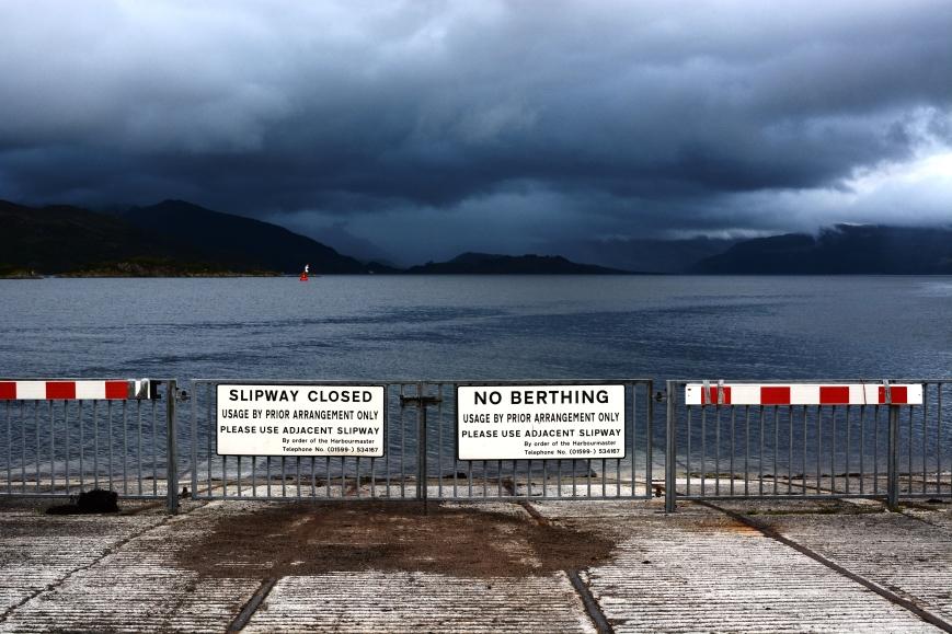 The old ferry slipway at Kyleakin, Isle of Skye