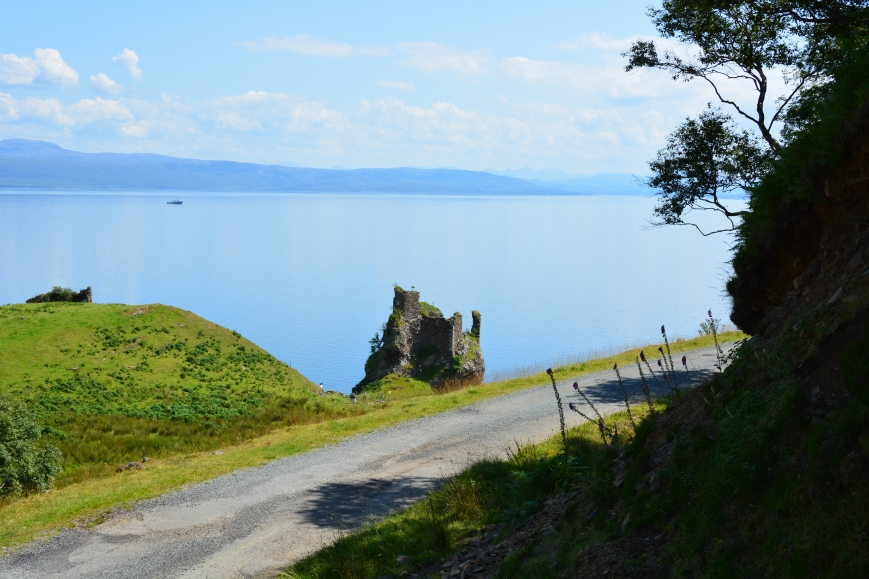 Road past Brochel Castle ruins, Isle of Raasay