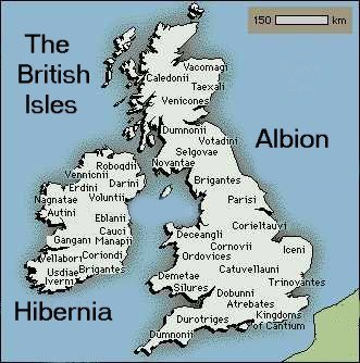 British Celt Tribe maps