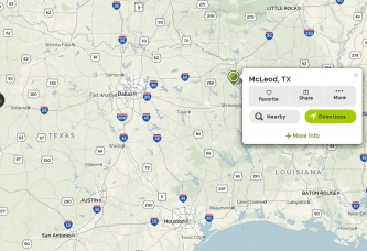 Map via https://www.mapquest.com/us/tx/mcleod-282914350