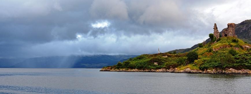 Castle Maol rain showers Kyleakin Skye